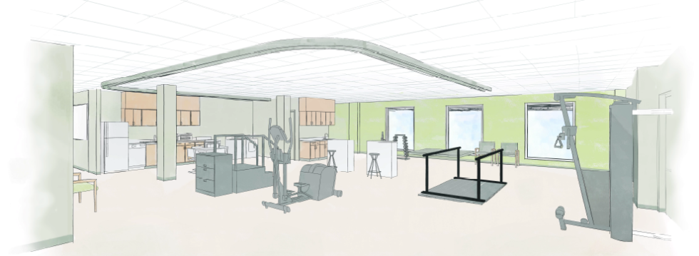 Gym Renovation and Expansion rendering